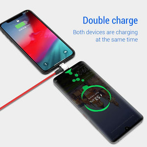 2.4A USB Magnetic Cable 180 Free Rotation Fast Charging & Data Transfer Cable