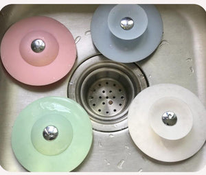 BEST SALE-Press Type Silicone Sink Strainers, Kitchen Bathroom Anti-Clogging Sink Filter Sundry Catchers Floor Drain Cover