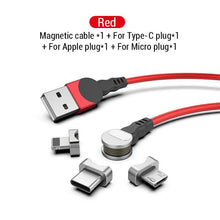 Load image into Gallery viewer, 2.4A USB Magnetic Cable 180 Free Rotation Fast Charging & Data Transfer Cable
