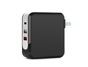 3-Port Smart Wall Charger with Quick Charge & USB Type-C