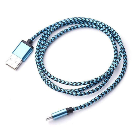 3/6/10ft Braided Aluminum Micro USB DataSync Charger Cable for Android Phones