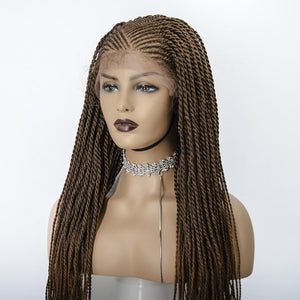 Half Cornrow, Half twist wig