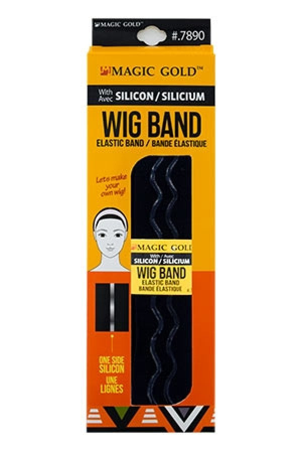 Elastic Wig Band with Silicon- Black- 7890