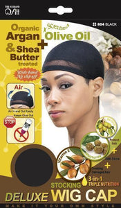 Stocking Wig Cap Black #804