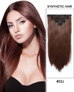 Natural Way Synthetic Clip In 7 Pcs 18""