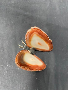 Brown Agate Butterfly Figurine