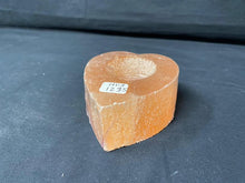 Load image into Gallery viewer, Orange/Pink Selenite Tea Lite Candle Holder