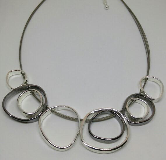 Gunpowder Black and Silver O Ring Necklace