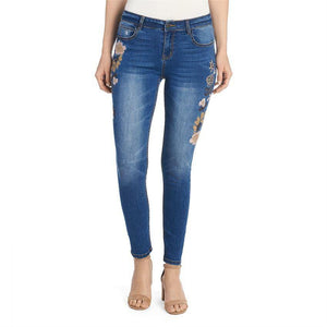 Coco & Carmen Embroidered Leg Jean