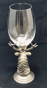 Elk Nickel Wine Goblet