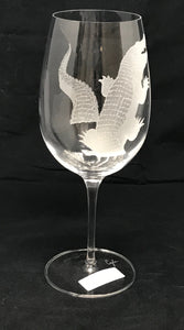 Gator Frosted Wine Glass