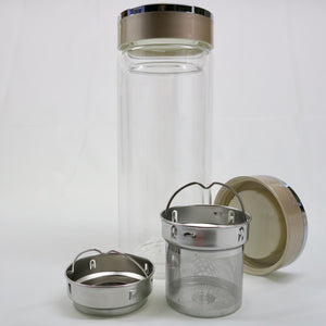 Glass Thermos Travel Tumbler  with Lid  8 oz/14 oz