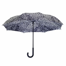 Load image into Gallery viewer, Leopard Skin Black & White RC Stick Umbrella
