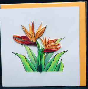 Birds of Paradise Quilled Card