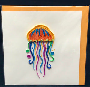 Jellyfish Quilled Card