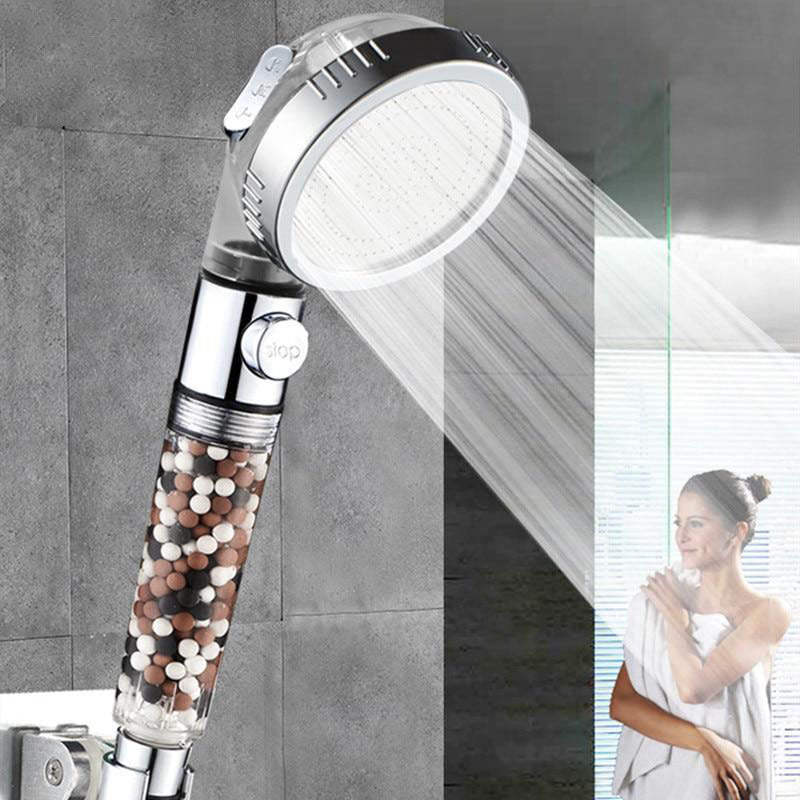 3-Function SPA High Pressure Anion Filter Shower Head with Switch on/off Button
