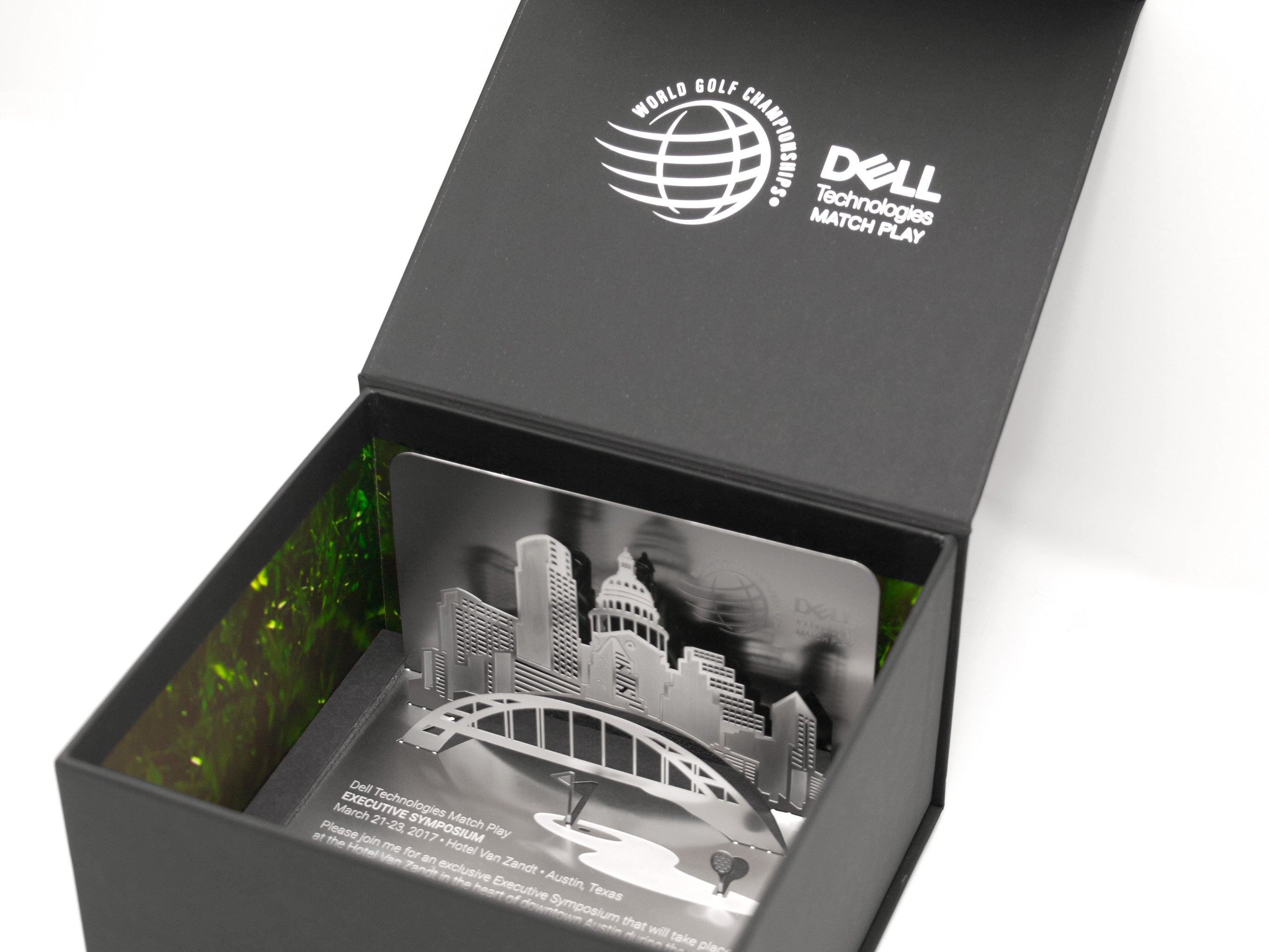 Dell Matchplay Folded Metal Corporate Invitation In Box3