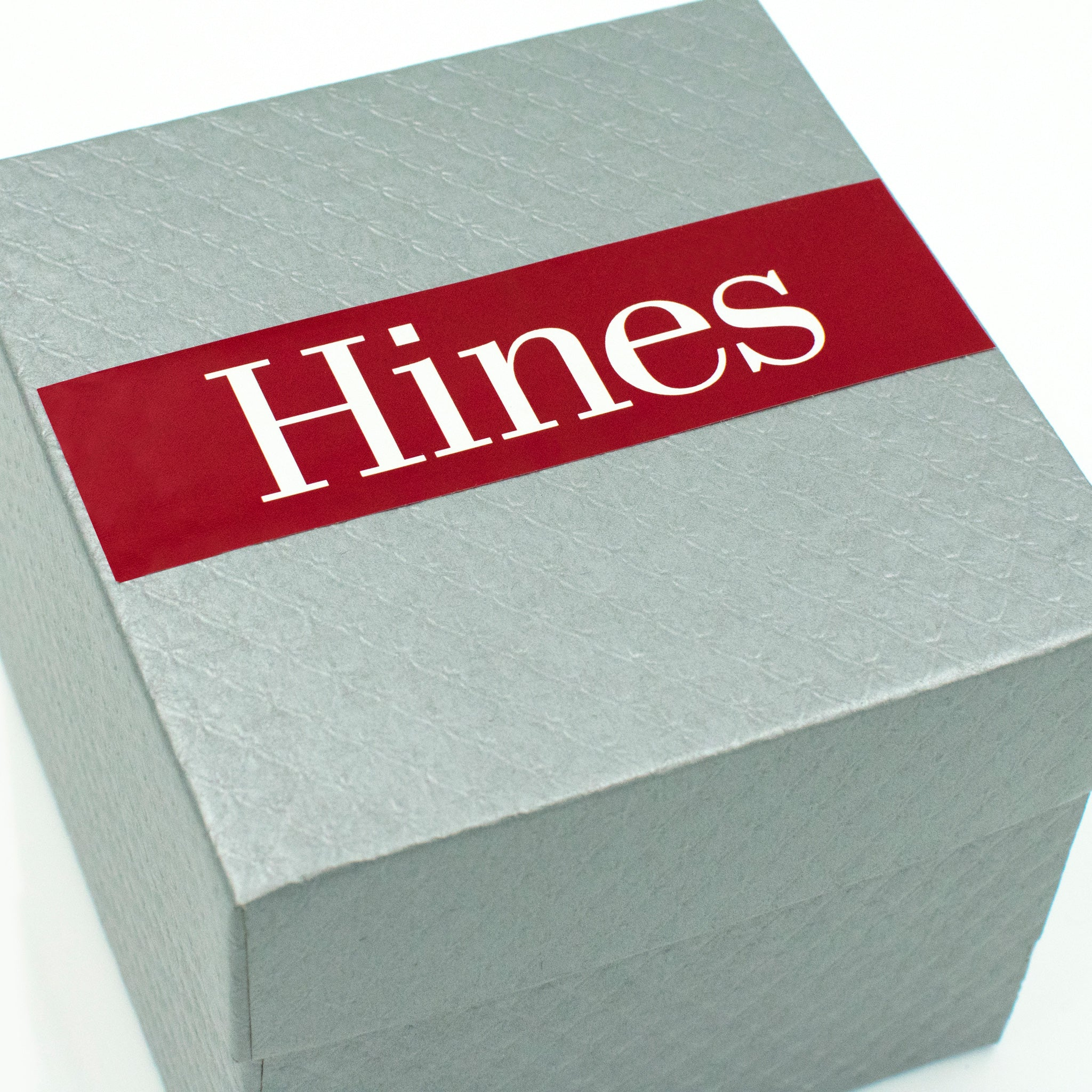 Hines Metal Invitation In Box Houston Buildings Detail2