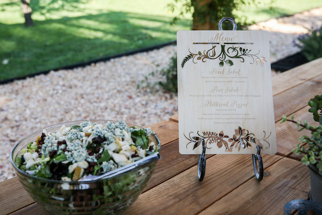 Laser Cut Wood Wedding Menu Sign7