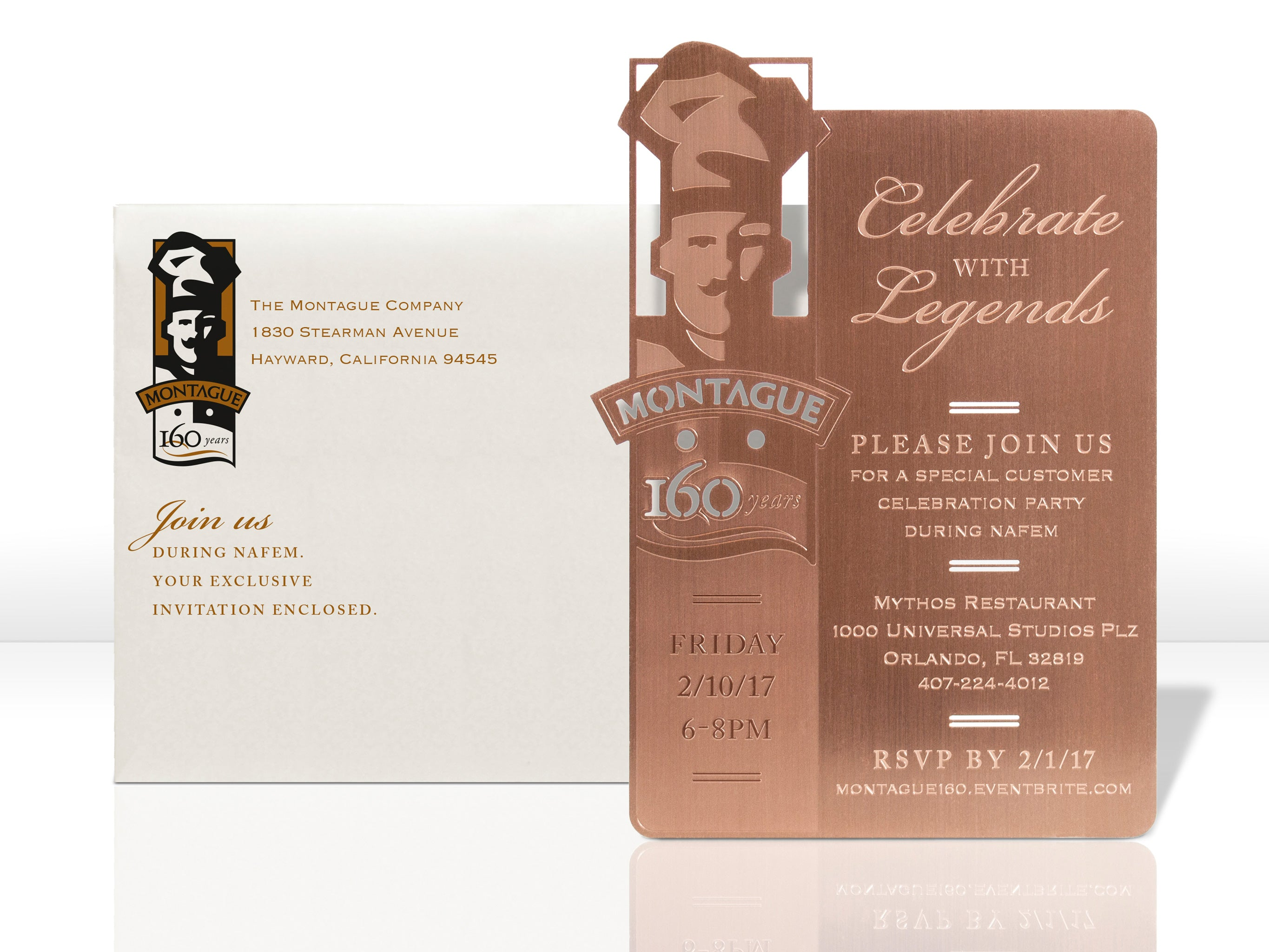 Montague Rose Gold Meta Special Event Invitation
