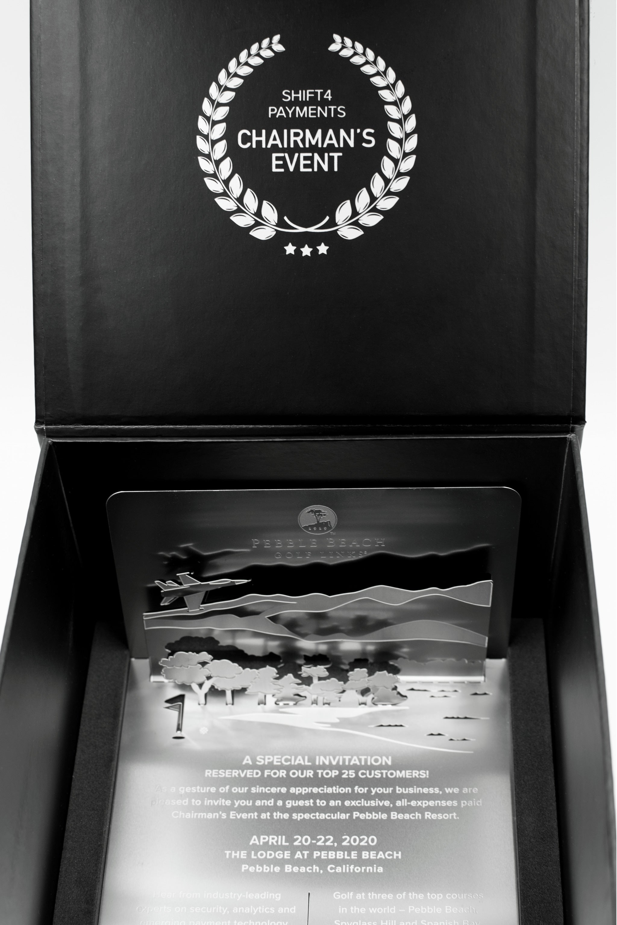 Pebble Beach Golf Metal Invitation Box Open1