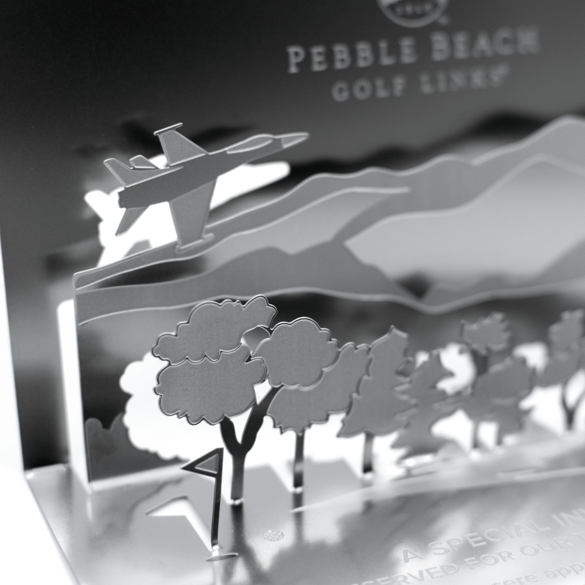 Pebble Beach Golf Metal Invitation Folded Detail2