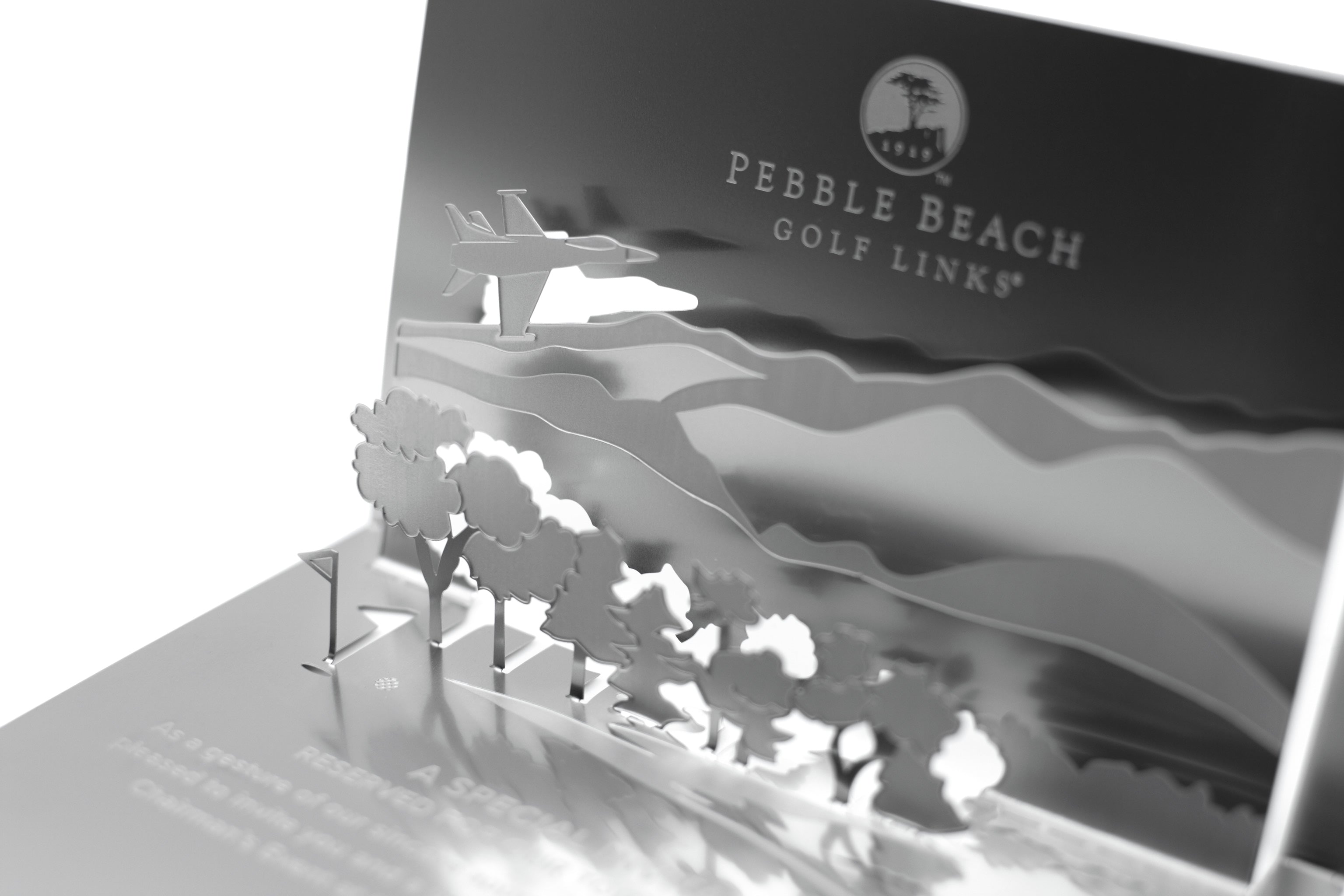 Pebble Beach Golf Metal Invitation Folded Detail3