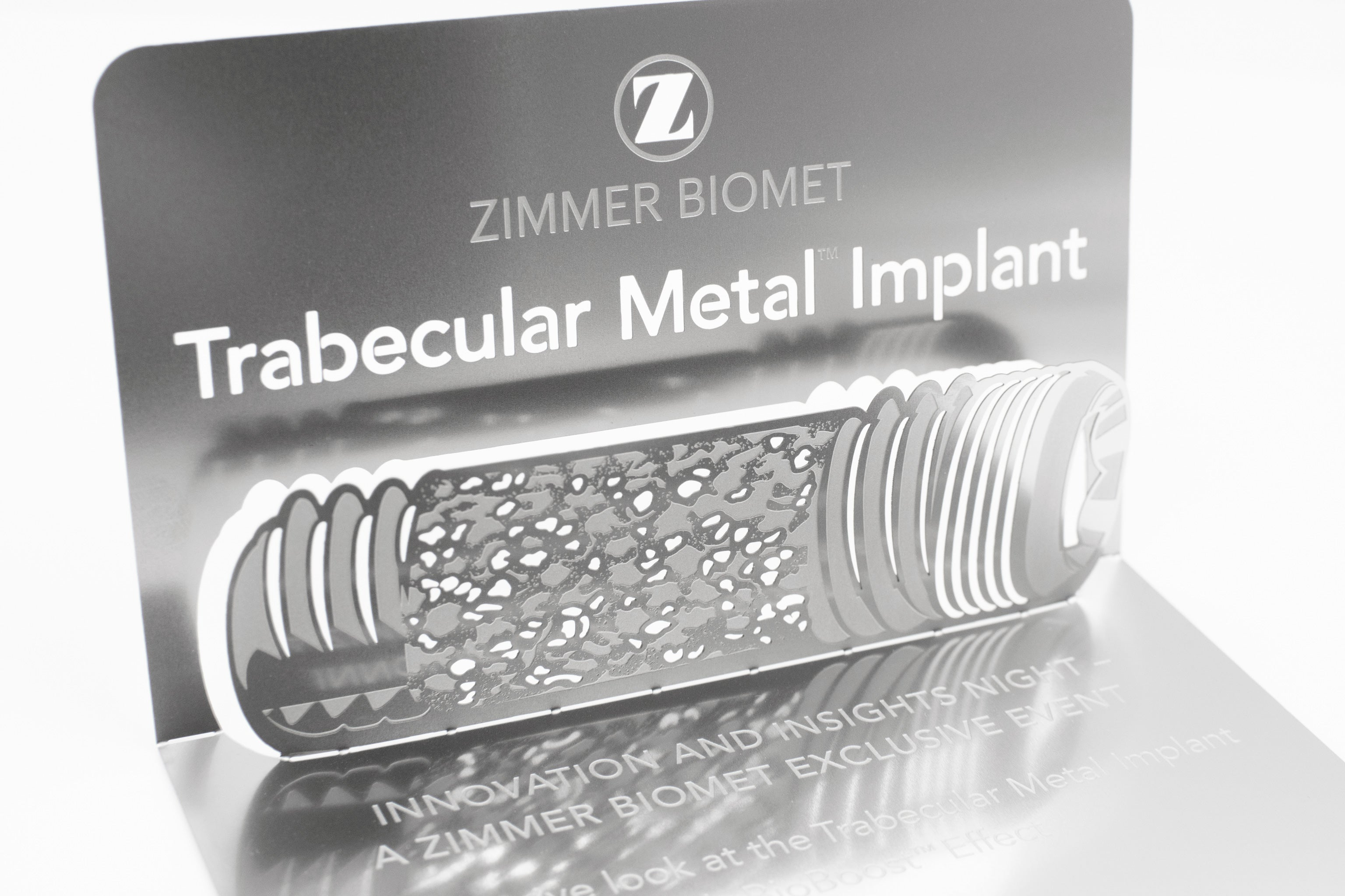 Zimmer Biomet Metal Corporate Invitation In Box8