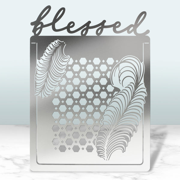 Blessed Folding Metal Card
