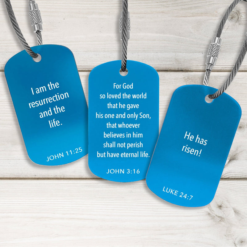 Faith Building Tags - Modern Design - Multiple Colors Available