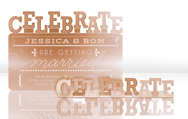 Celebrate Metal Invitation
