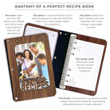 """Family Recipes"" Walnut Hardwood Photo Recipe Book"