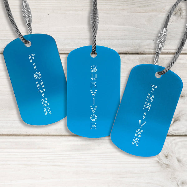Survivor Tags - Modern Design - Multiple Colors Available