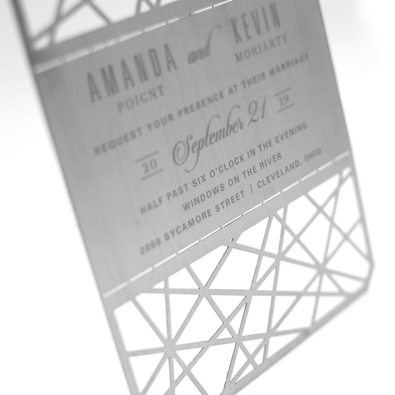 Geometric Metal Invitation
