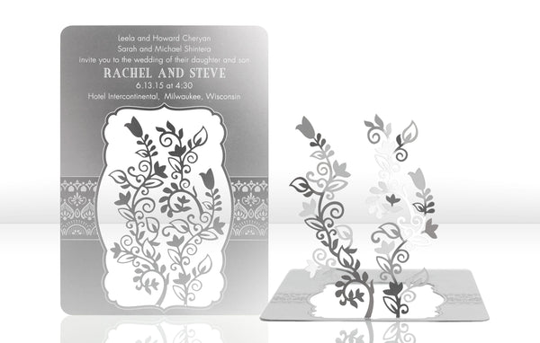 Henna Metal Invitation