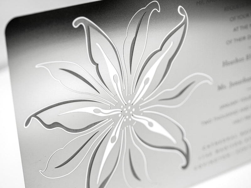 Lily Metal Invitation