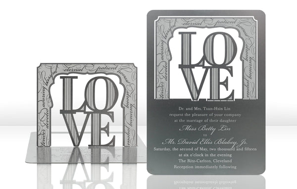 Love Metal Invitation