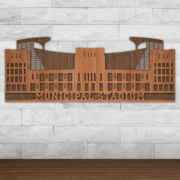 Municipal Stadium - Vintage Cleveland Browns and Cleveland Indians Wall Art