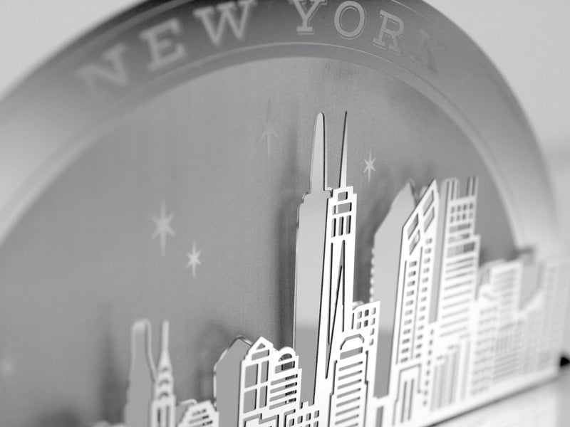 New York City Skyline Metal Invitation