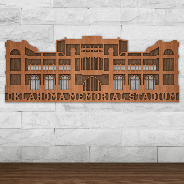 Oklahoma Memorial Stadium - University of Oklahoma Wall Art