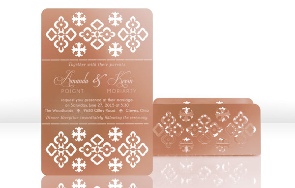 Ornate Metal Invitation