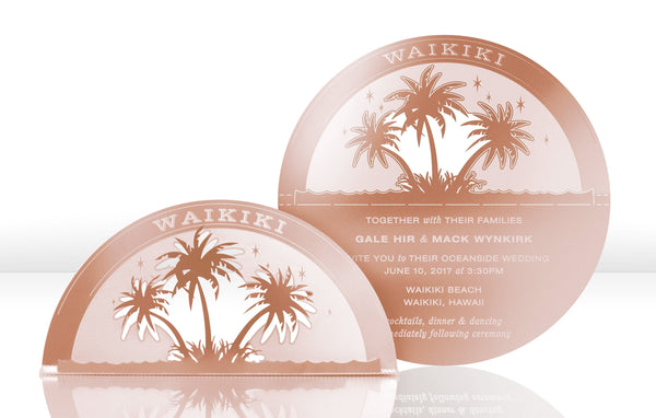 Palm Trees Metal Invitation