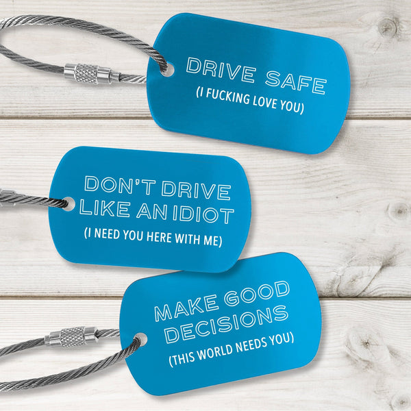 New Driver Tags - Modern Design - Multiple Colors Available