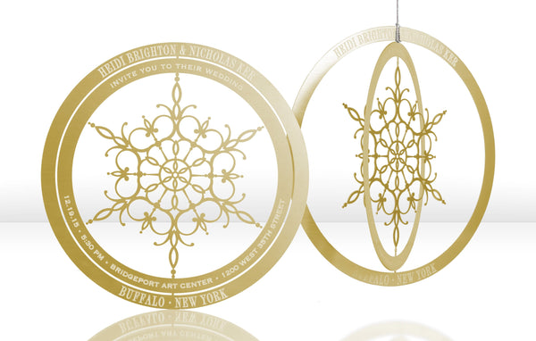 Snowflake Metal Invitation