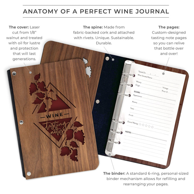 Grapevines Hardwood Wine Journal