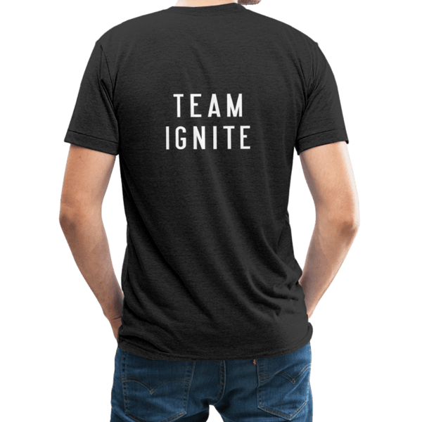 """It's Gonna Be Great / Team Ignite"" Unisex Jersey T-Shirt by Bella + Canvas - heather black"