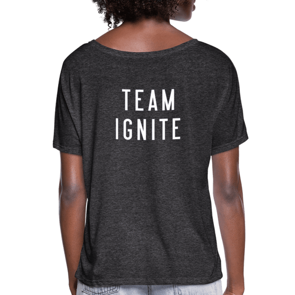"""It's Gonna be Great / Team Ignite"" Women's Flowy T-Shirt - charcoal gray"