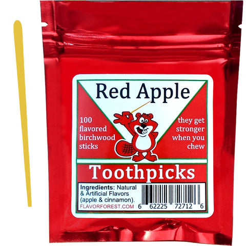red apple toothpicks 100ct