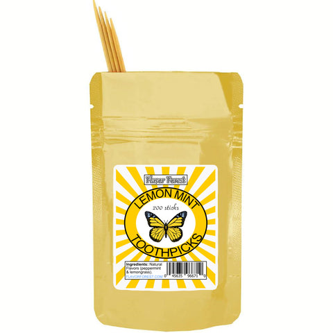 lemon mint toothpicks 200ct