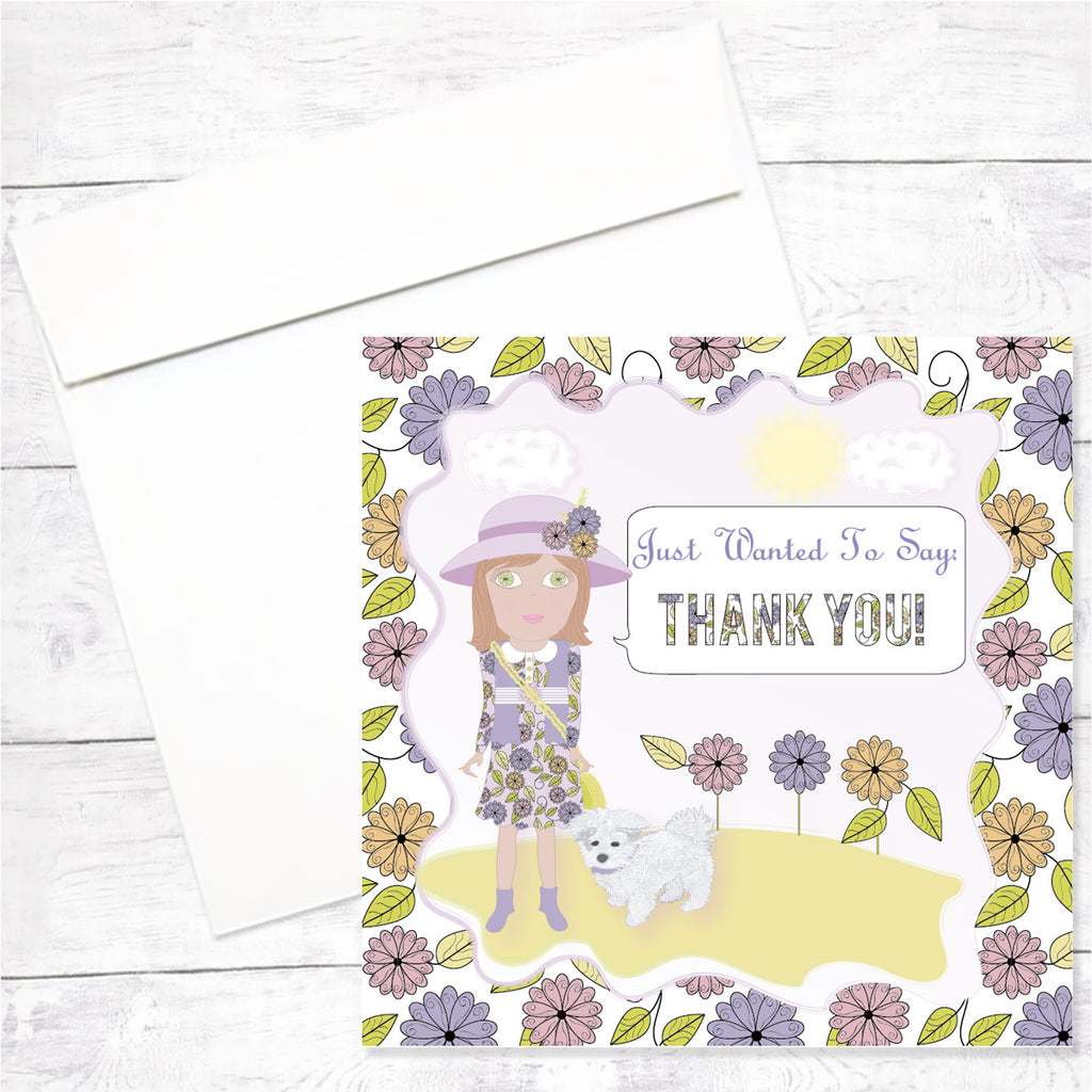 Florsita Greeting Card: Thank You